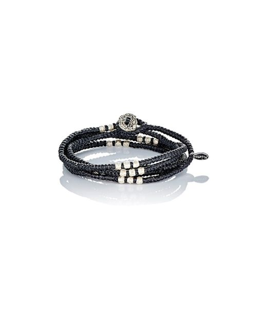 M. Cohen | Black Knotted Wrap Bracelet for Men | Lyst