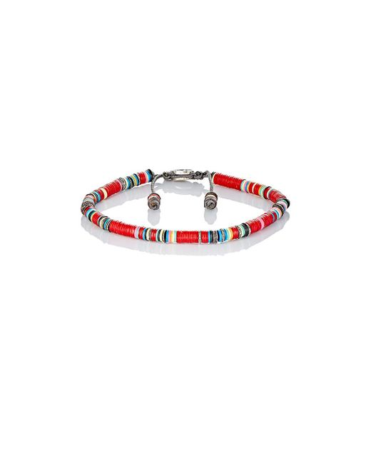 M. Cohen | Red Rondelle Bracelet for Men | Lyst