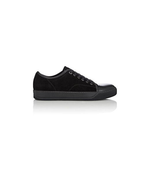 Lanvin | Black Suede & Leather Cap | Lyst