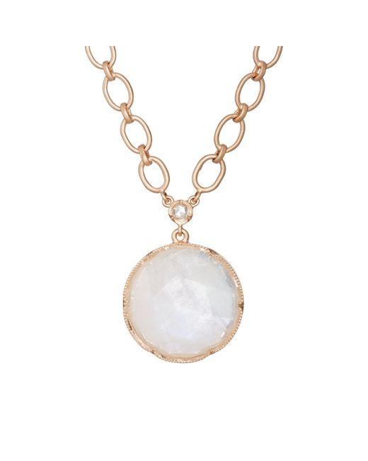 Irene Neuwirth | Metallic Rainbow Moonstone & White Diamond Pendant Necklace | Lyst