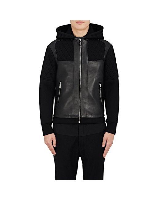 Neil Barrett | Black Combo Biker Jacket for Men | Lyst