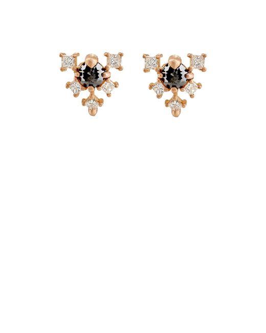 Nak Armstrong | White Geometric Stud Earrings | Lyst