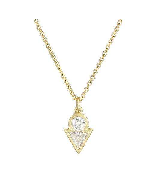 Tate   Metallic White Diamond Pendant Necklace   Lyst