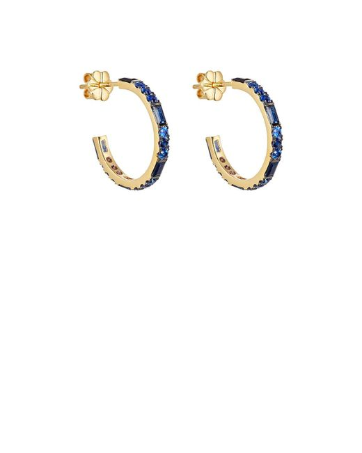 Pamela Love   Metallic Sapphire Hoops   Lyst