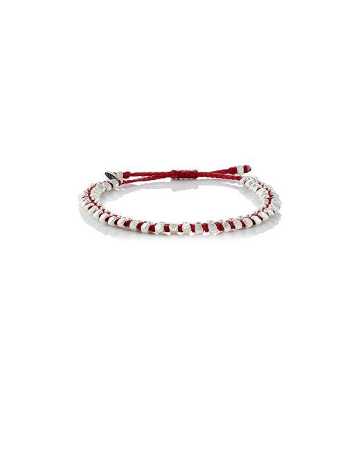 M. Cohen | Red Beaded Waxed Cord Bracelet | Lyst