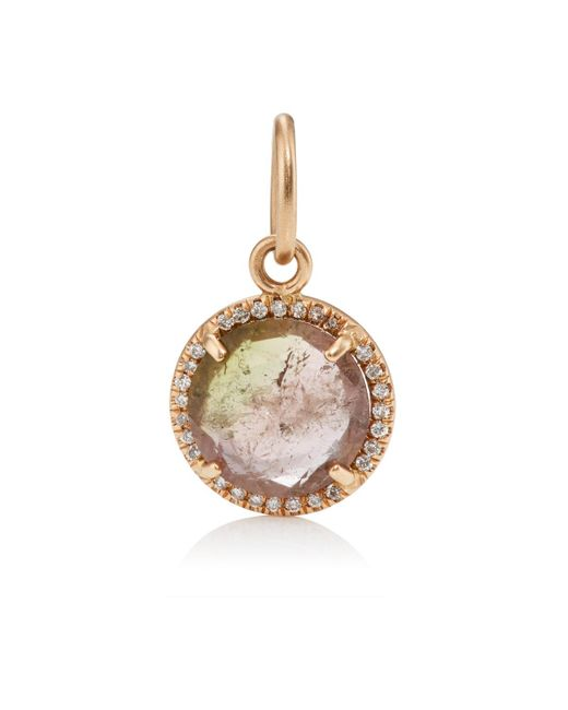 Irene Neuwirth | Metallic Watermelon Tourmaline & White Diamond Pendant | Lyst