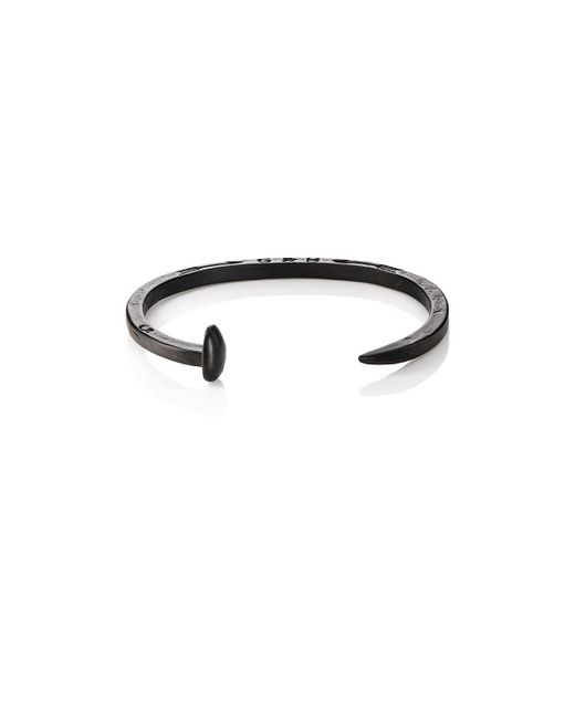 Giles & Brother | Black Skinny Railroad Spike Cuff for Men | Lyst