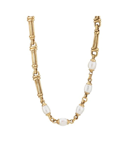 Goossens Paris - Metallic Pearl Necklace - Lyst