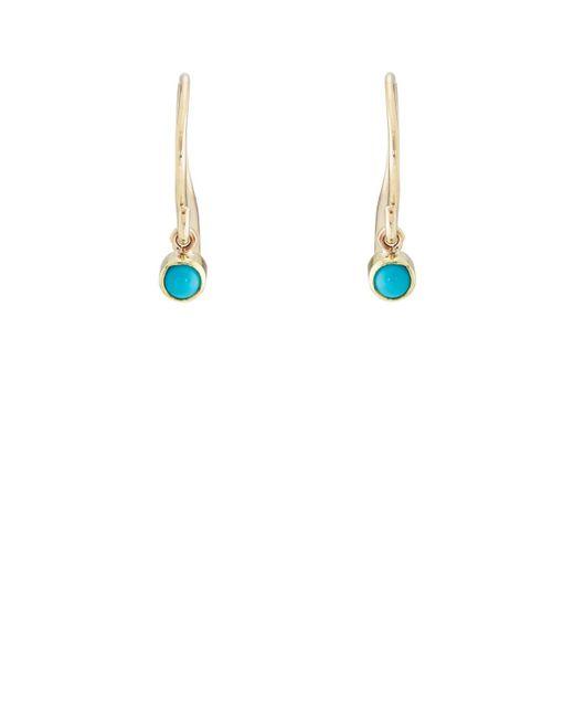 Jennifer Meyer - Blue Turquoise Cabochon Drop Earrings - Lyst