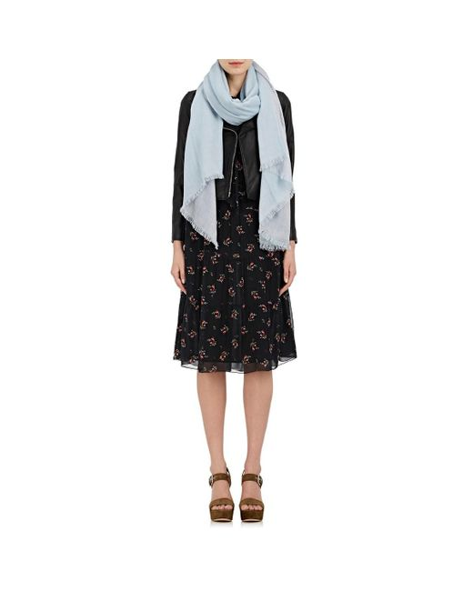 Barneys New York - Black Double-sided Cashmere Scarf - Lyst