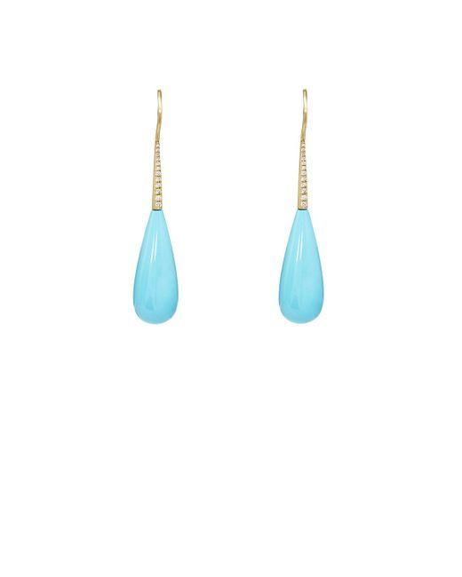 Irene Neuwirth   Blue White Diamond & Turquoise Drop Earrings   Lyst