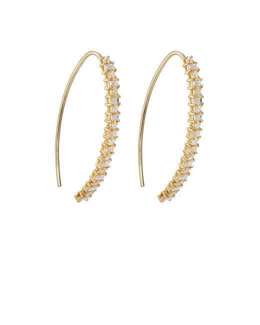 Ileana Makri - Metallic Baguette Eye Hoop Earrings - Lyst