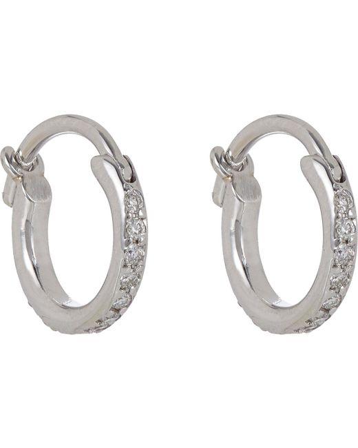 Ileana Makri | Metallic Huggie Hoop Earrings | Lyst