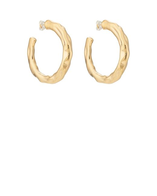 Pamela Love - Metallic Wavy Hoop Earrings - Lyst
