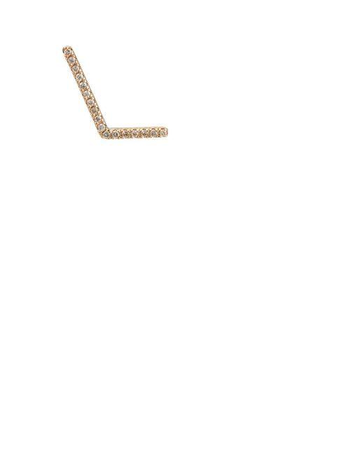 Hirotaka - Metallic White-diamond Angled-bar Stud Earring - Lyst