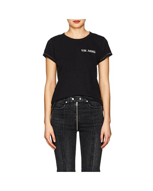 Rag & Bone - Black yin Yang Cotton T-shirt - Lyst