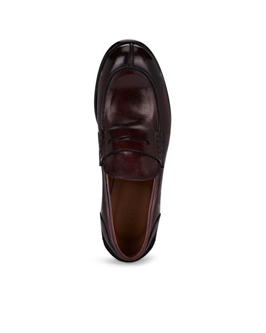 59e0488f69b6f ... Barneys New York - Brown Washed Leather Penny Loafers for Men - Lyst