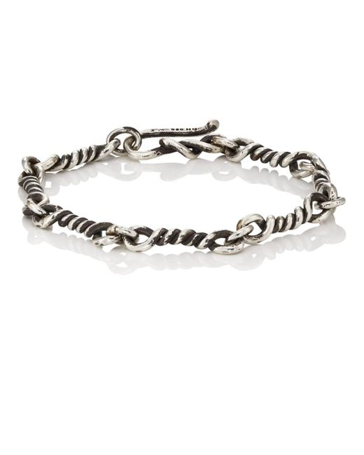 Dean Harris - Metallic Twisted-link Sterling Silver Bracelet for Men - Lyst
