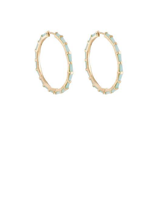 Nak Armstrong - Metallic Hilvando Stitch Hoop Earrings - Lyst