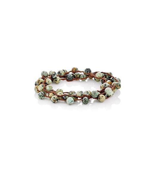 Feathered Soul | Green #elm Wrap Bracelet | Lyst