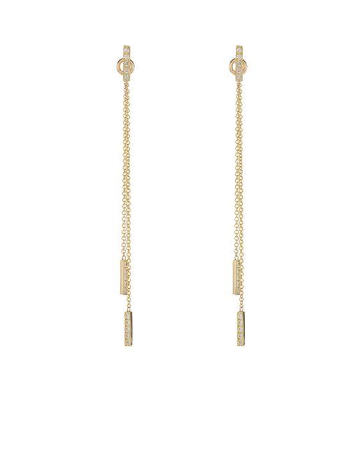Jennifer Meyer - Metallic Threaded Bar Earrings - Lyst