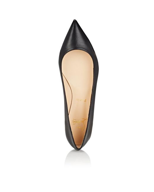 95f85ca3d05 ... Christian Louboutin - Black Ballalla Leather Flats - Lyst ...