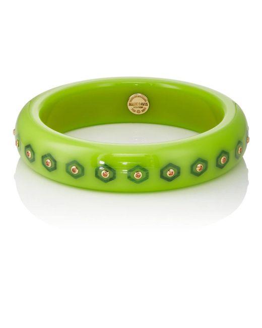Mark Davis - Green Bakelite & Yellow-sapphire Bangle - Lyst