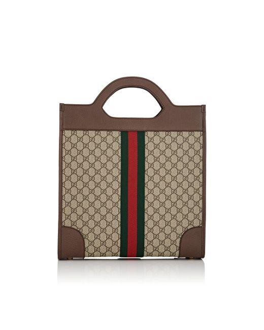 7b3fcc45cf4 ... Gucci - Brown GG Supreme Tote Bag for Men - Lyst ...