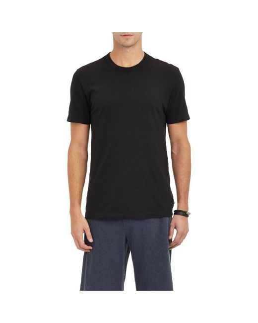 James Perse - Black Jersey Crewneck T-shirt for Men - Lyst