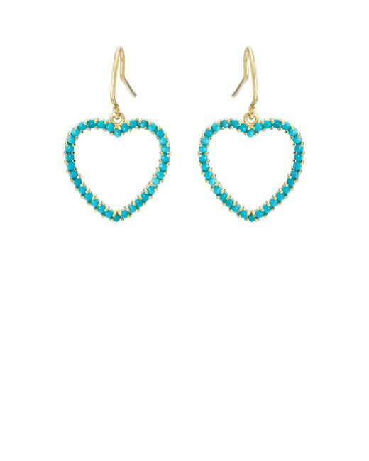 Jennifer Meyer - Blue Turquoise Large Open Heart Drop Earrings - Lyst