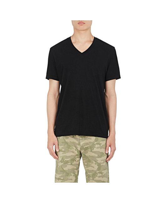 James Perse - Black V-neck T-shirt for Men - Lyst