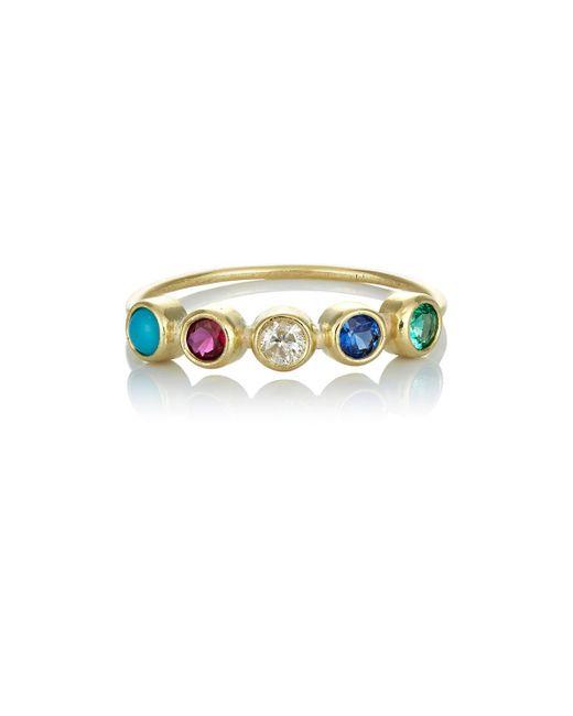Jennifer Meyer | Metallic Bezel Ring | Lyst