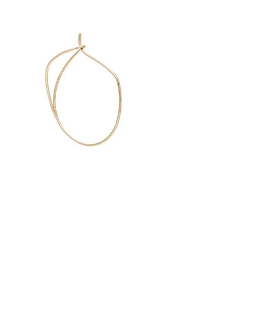 Hirotaka | Metallic Yellow Gold Wire Hoop Earrings | Lyst