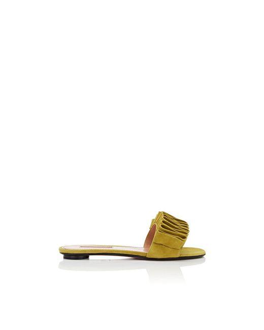 SAMUELE FAILLI - Green Alexandra Suede Slide Sandals - Lyst