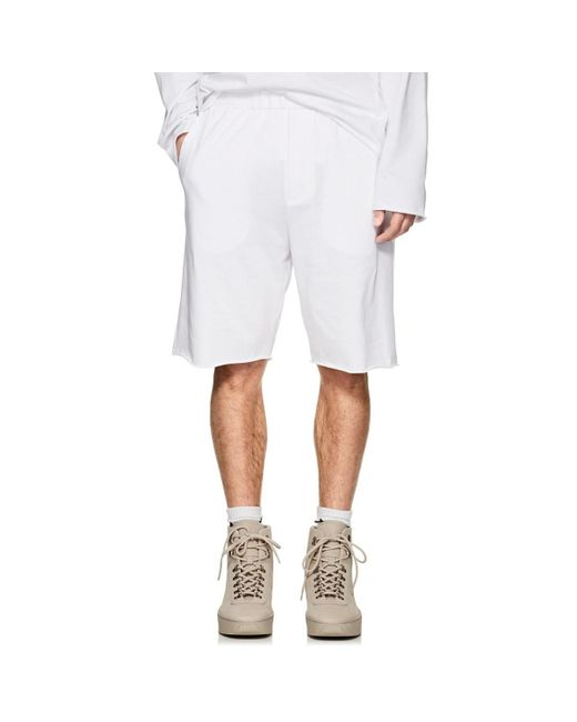 Helmut Lang - White Logo Cotton Jersey Shorts for Men - Lyst