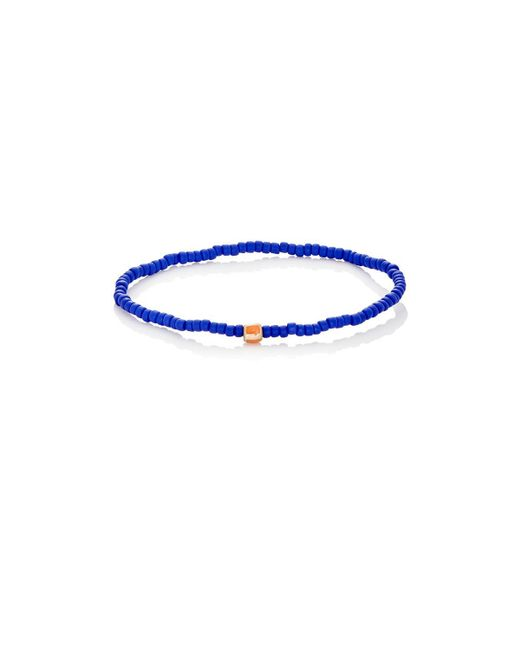 Luis Morais - Blue Striped-bead Bracelet for Men - Lyst