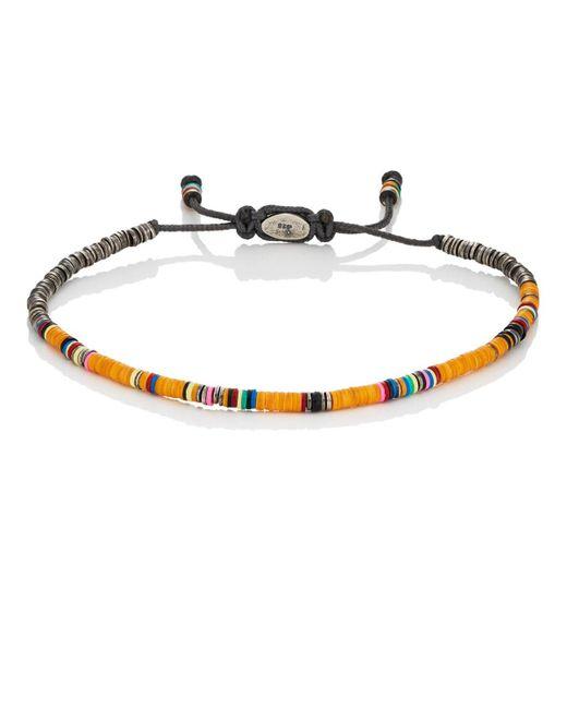 M. Cohen - Orange Rondelle Bracelet for Men - Lyst