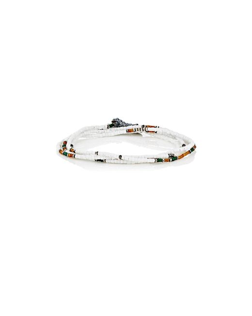 M. Cohen - White Wrap Bracelet & Beaded Necklace for Men - Lyst