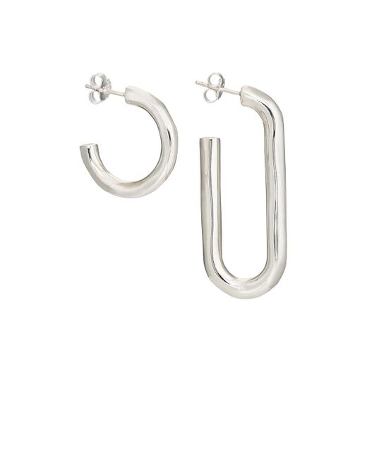 Pamela Love | Metallic Deconstruct Hoop Earrings | Lyst