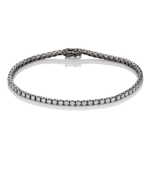 Eva Fehren - Metallic Diamond Tennis Bracelet - Lyst