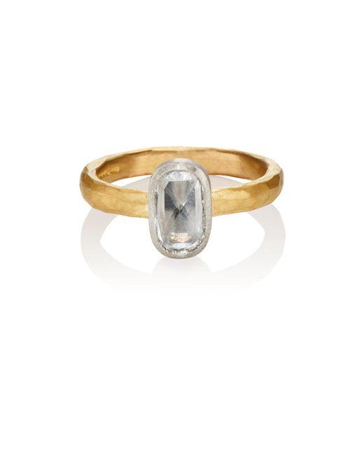 Malcolm Betts | Metallic Oval White Diamond Ring | Lyst