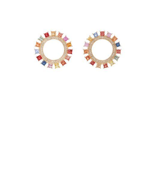 Ileana Makri - Metallic Glimmer Sun Stud Earrings - Lyst