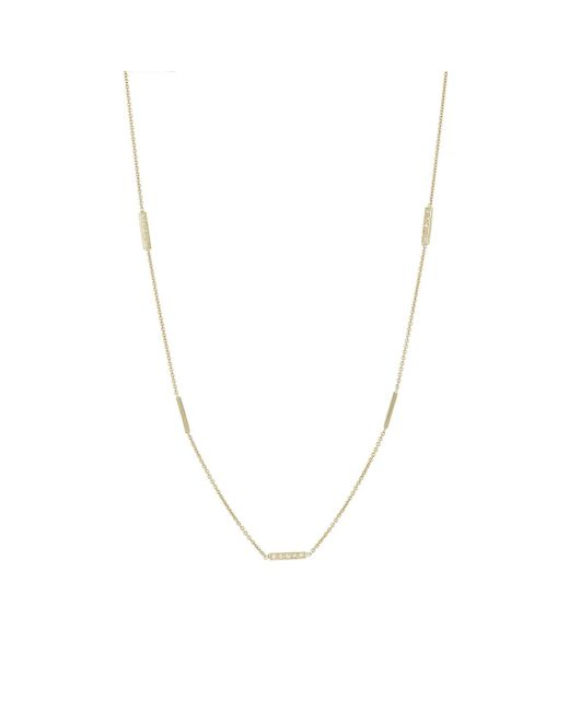 Jennifer Meyer | Metallic Bar Necklace | Lyst
