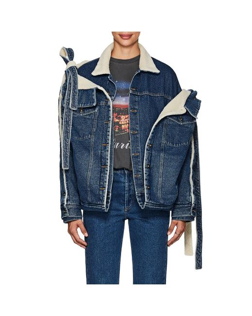 Y. Project - Blue Layered Denim Convertible Trucker Jacket for Men - Lyst