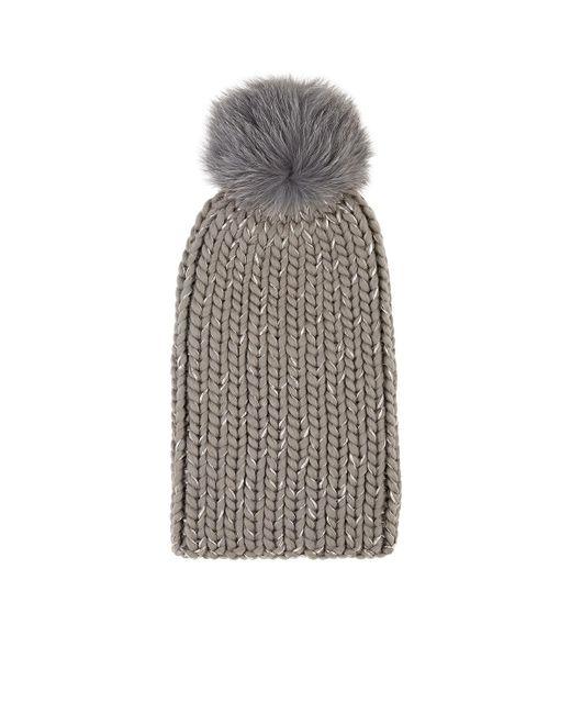 Eugenia Kim - Gray Rain Chunky Rib-knit Wool-blend Beanie - Lyst