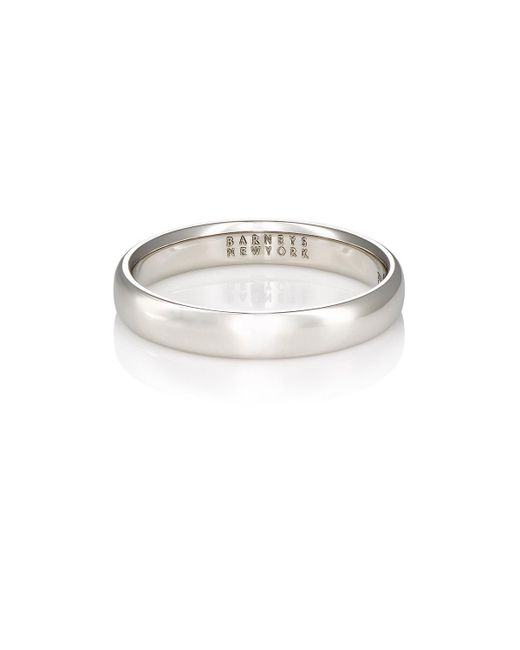 Barneys New York | Metallic Thin Domed Band for Men | Lyst