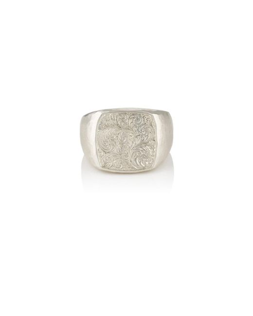 Malcolm Betts | Metallic Sterling Silver Signet Ring | Lyst