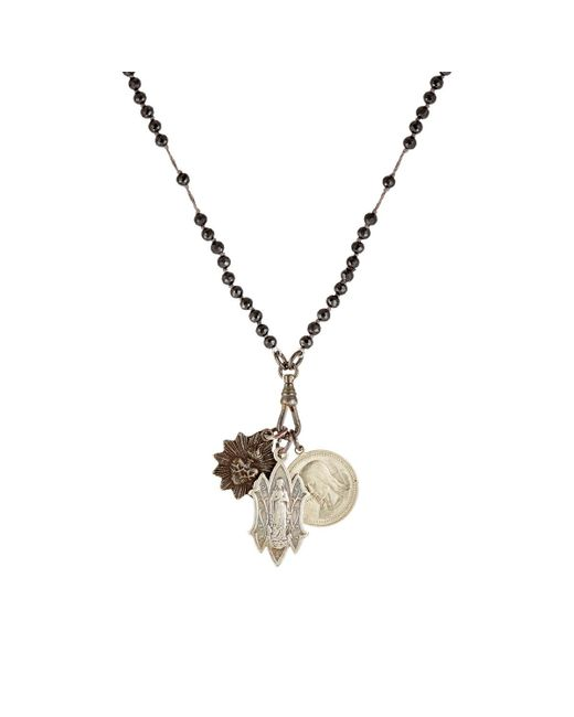 Miracle Icons   Black Beaded Pendant Necklace   Lyst