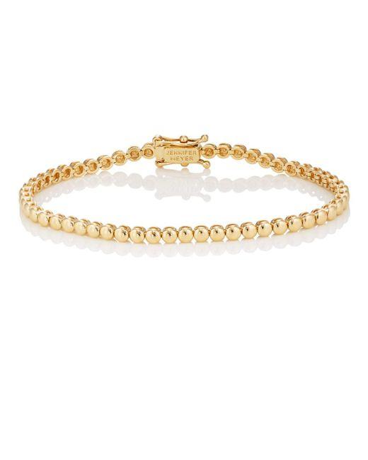 Jennifer Meyer - Metallic Mini Bezel Tennis Bracelet - Lyst