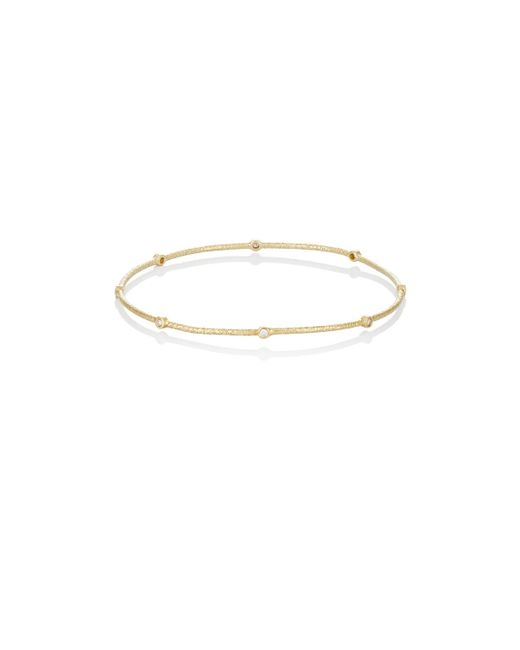 Sara Weinstock | Multicolor White Diamond Hollow Bangle | Lyst